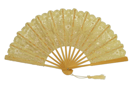 1800s Ladies Ivory Cotton,Lace Fan | 19th Century | Historical | Period Clothing | Theatrical || Battenberg Lace Fan, Ivory