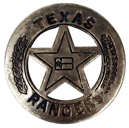 Steampunk Mens Silver Alloy Badge | Gothic | Pirate | LARP | Cosplay | Retro | Vampire || Premium Old West Badge - Texas Ranger, Star with Flag
