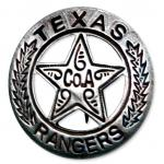 Old West Badge - Texas Ranger, Co. A