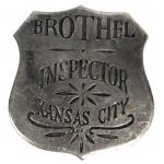 Premium Old West Badge - Kansas City Brothel Inspector