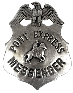 Pony express Badge