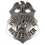 Old West Badge - Pony Express Messenger