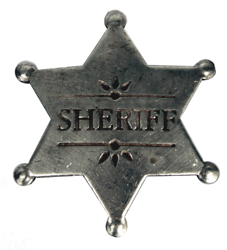 Vintage Mens Silver Alloy Badge | Romantic | Old Fashioned | Traditional | Classic || Old West Badge - Sheriff
