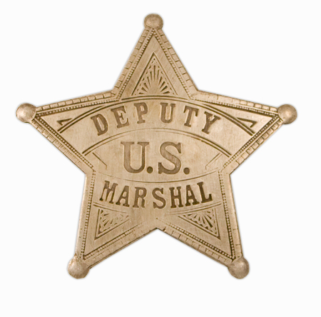 Wedding Mens Silver Alloy Badge | Formal | Bridal | Prom | Tuxedo || Premium Old West Badge - Deputy US Marshal