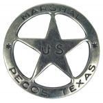 Old West, Mens Accessories Silver Alloy Badges |Antique, Vintage, Old Fashioned, Wedding, Theatrical, Reenacting Costume |