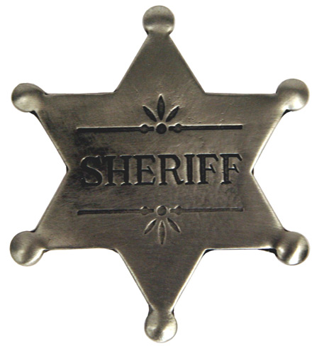 Vintage Mens Silver Alloy Badge | Romantic | Old Fashioned | Traditional | Classic || Old West Badge - Sheriff Badge