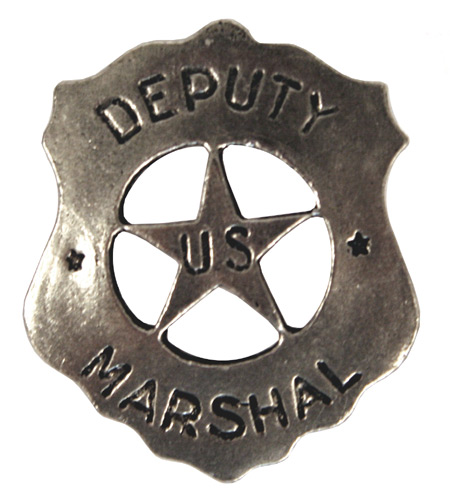 Victorian Mens Silver Alloy Badge | Dickens | Downton Abbey | Edwardian || Old West Badge - Deputy Marshal