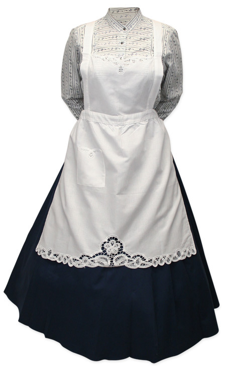 Wedding Ladies Ivory Cotton,Lace Solid Apron | Formal | Bridal | Prom | Tuxedo || Linen Apron with Battenberg Lace