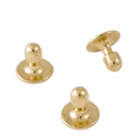 1800s Mens Gold Metal Studs and Cufflink | 19th Century | Historical | Period Clothing | Theatrical || Collar Studs, Gold Tone (3-pack)
