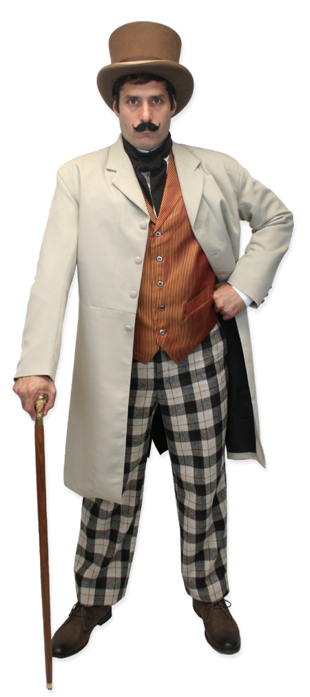 Steampunk Mens Brown Wool Felt Top Hat | Gothic | Pirate | LARP | Cosplay | Retro | Vampire || Victorian Top Hat - Pecan