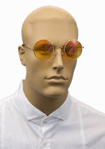 Vintage Mens Gold Alloy,Plastic Sunglas | Romantic | Old Fashioned | Traditional | Classic || Vintage Style Spectacles - Yellow Tint