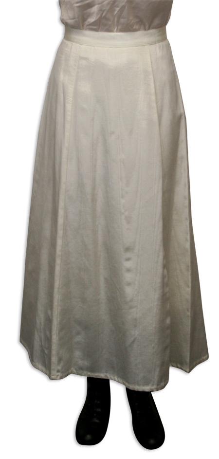 Steampunk Ladies Ivory Solid Dress Skirt | Gothic | Pirate | LARP | Cosplay | Retro | Vampire || Moire Gibson Girl Skirt - Natural