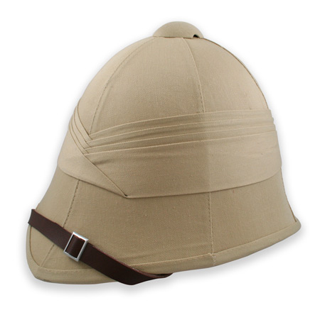 Victorian Mens Brown,Tan Cotton Helmet | Dickens | Downton Abbey | Edwardian || British Empire Pith Helmet - Khaki