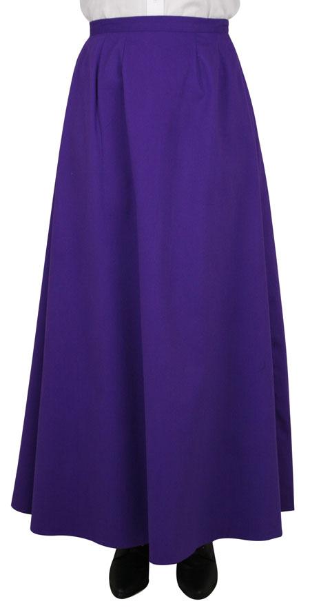 Cotton Twill Walking Skirt - Purple