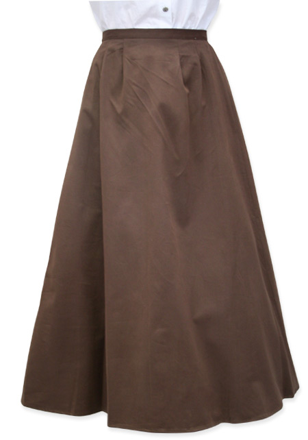 Brown walking skirt