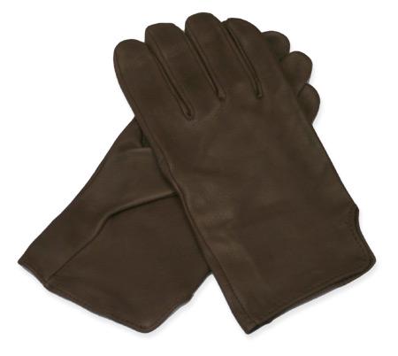 Wedding Mens Brown Leather Solid Gloves | Formal | Bridal | Prom | Tuxedo || Dress Gloves, Brown Deerskin
