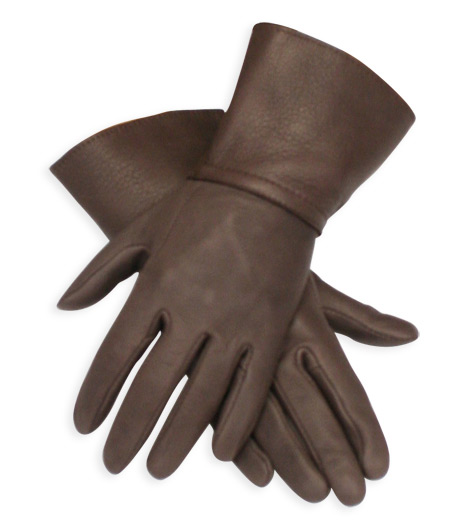 Victorian Mens Brown Leather Solid Gloves | Dickens | Downton Abbey | Edwardian || Gauntlets, Brown Deerskin