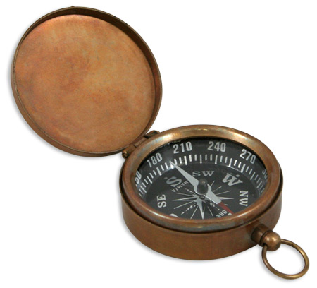 Steampunk Mens Brass Brass Compass   Gothic   Pirate   LARP   Cosplay   Retro   Vampire    Antique Brass Pocket Compass with Hinged Lid