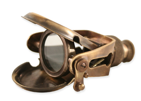 Vintage Mens Brass Brass Monocle | Romantic | Old Fashioned | Traditional | Classic || Articulated Folding Brass Monocular - Antique Brass