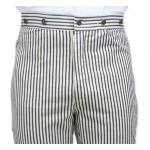 Summerhill Striped Trousers - Natural/Navy