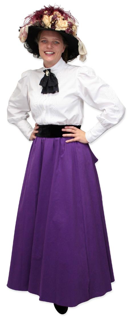 Steampunk Ladies White Cotton Solid Stand Collar Blouse | Gothic | Pirate | LARP | Cosplay | Retro | Vampire || Abbington Blouse - White