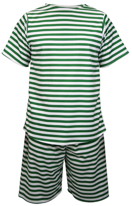 Victorian Mens Green,White Stripe Bathing Suit | Dickens | Downton Abbey | Edwardian || Mens 1900s Bathing Suit - Green/White