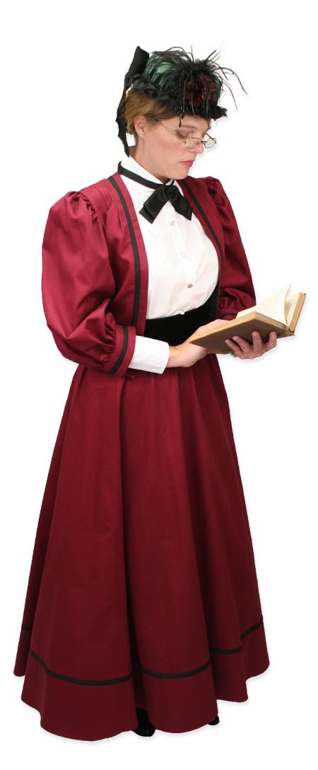 Wedding Ladies Burgundy Cotton Solid Suit | Formal | Bridal | Prom | Tuxedo || Ladies Edwardian Suit - Burgundy