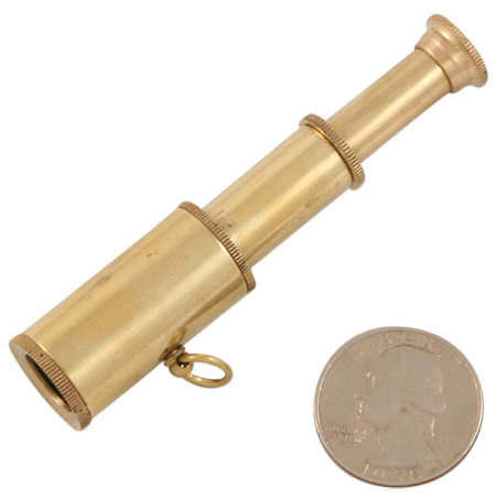 1800s Mens Brass Brass Telescope | 19th Century | Historical | Period Clothing | Theatrical || Miniature Brass Telescope