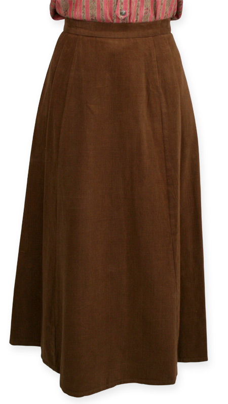 1800s Ladies Brown Cotton Solid Dress Skirt | 19th Century | Historical | Period Clothing | Theatrical || Brushed Twill Gibson Girl Skirt - Brown