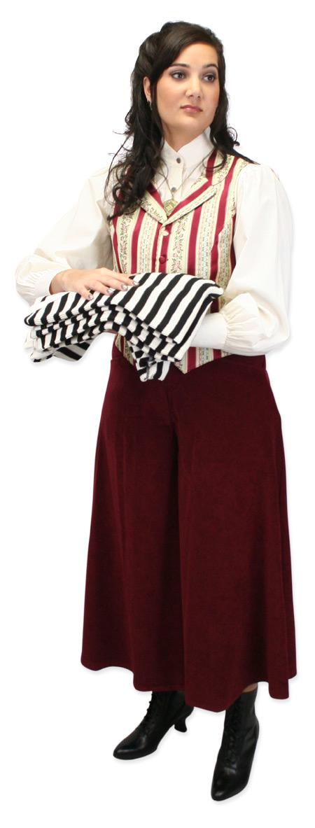 Vintage Ladies Ivory Floral,Stripe Notch Collar Dress Vest | Romantic | Old Fashioned | Traditional | Classic || Lady Lafayette Vest
