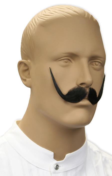 Wedding Mens Black Natural Mustache | Formal | Bridal | Prom | Tuxedo || Oil Can Harry Mustache - Black