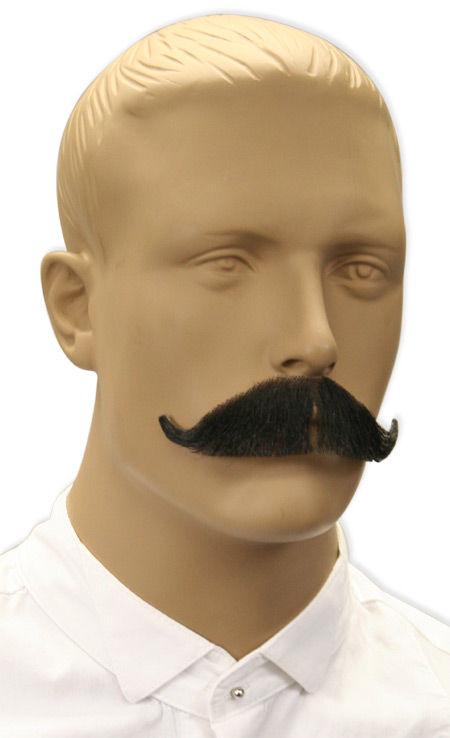 Victorian Mens Black Natural Mustache | Dickens | Downton Abbey | Edwardian || Sophisticated Mustache - Black