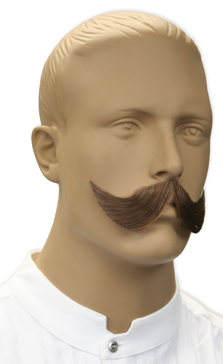 1800s Mens Brown Natural Mustache | 19th Century | Historical | Period Clothing | Theatrical || Elegant Mustache - Brown