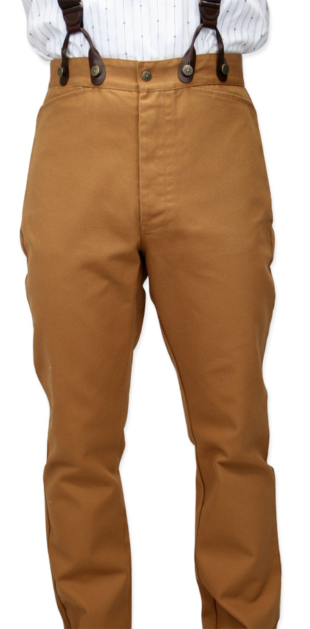 b60bbc69 Classic Canvas Trousers - Brown