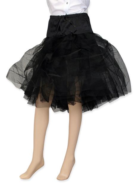 Victorian Ladies Black Solid Petticoat | Dickens | Downton Abbey | Edwardian || Petticoat, Organza