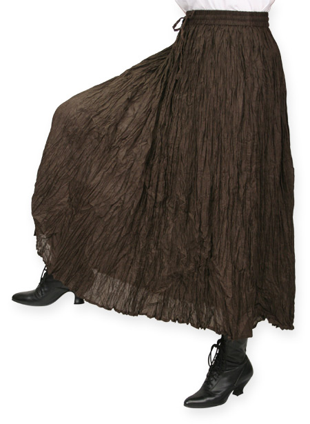 Wedding Ladies Brown Cotton Solid Work Skirt | Formal | Bridal | Prom | Tuxedo || Hestia Broomstick Skirt -  Brown