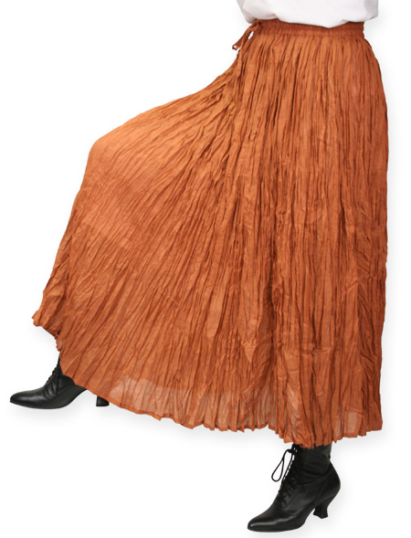 Wedding Ladies Brown Cotton Solid Work Skirt | Formal | Bridal | Prom | Tuxedo || Hestia Broomstick Skirt - Copper