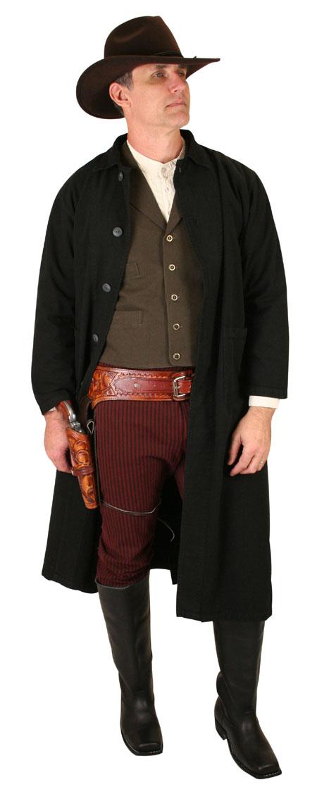 Steampunk Mens Brown Cotton Solid Notch Collar Work Vest | Gothic | Pirate | LARP | Cosplay | Retro | Vampire || Classic Canvas Work Vest - Walnut