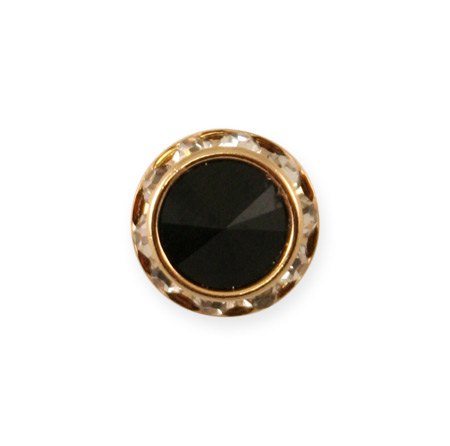 Victorian Mens Black Metal Tie Tack | Dickens | Downton Abbey | Edwardian || Gold Faceted Tie Tack - Jet