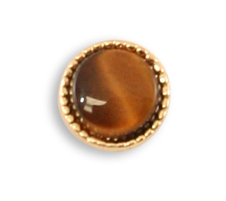 Wedding Mens Brown Metal Tie Tack | Formal | Bridal | Prom | Tuxedo || Premium Tie Tack - Tigers Eye