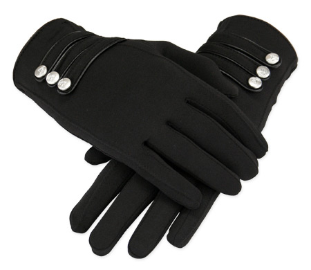 Vintage Ladies Black Solid Gloves | Romantic | Old Fashioned | Traditional | Classic || Papillon Gloves - Black