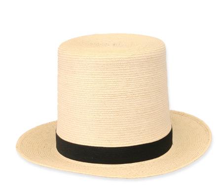 Steampunk Mens Ivory Straw Top Hat   Gothic   Pirate   LARP   Cosplay   Retro   Vampire    Straw Top Hat