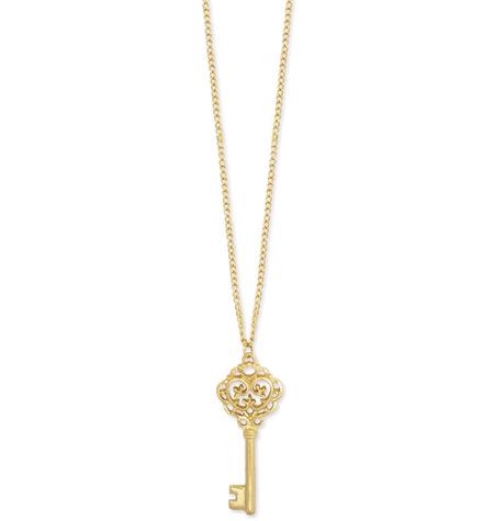 361da57e877b9 Charm Necklace - 26in. Gold w Skeleton Key