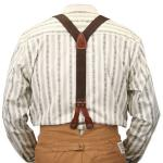 Stagecoach Y-Back Suspenders - Brown Canvas