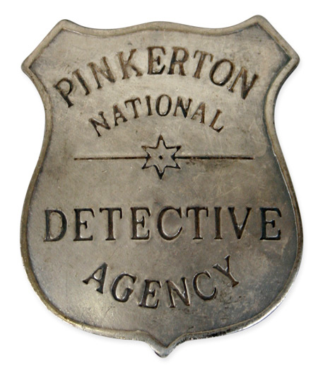Wedding Mens Silver Alloy Badge | Formal | Bridal | Prom | Tuxedo || Premium Old West Badge - Pinkerton Detective