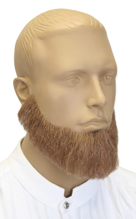 Victorian Mens Brown Natural Beard | Dickens | Downton Abbey | Edwardian || Senatorial Beard - Brown