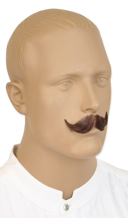 Steampunk Mens Brown Natural Mustache | Gothic | Pirate | LARP | Cosplay | Retro | Vampire || Debonair Mustache - Brown