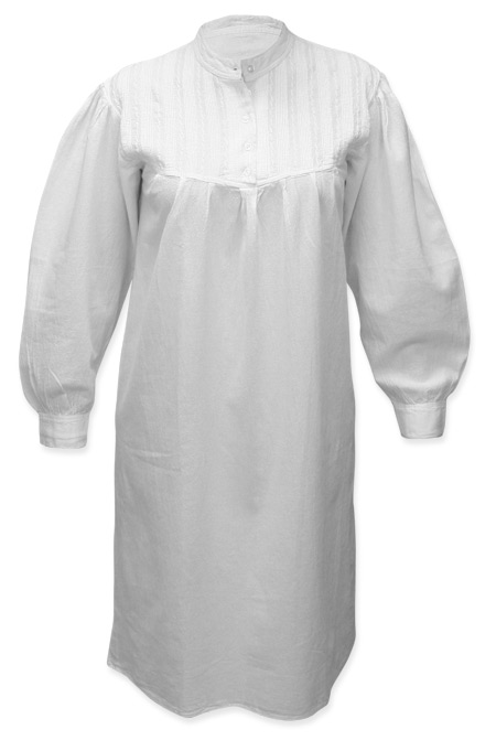 Wedding Ladies White Cotton Solid Sleep Wear | Formal | Bridal | Prom | Tuxedo || Emma Cotton Nightgown - White