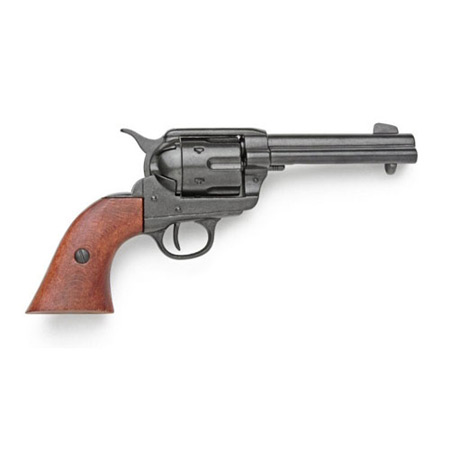 Vintage Mens Black Alloy Replica Weapon | Romantic | Old Fashioned | Traditional | Classic || 1873 Colt Peacemaker Pistol Replica - Blued Finish