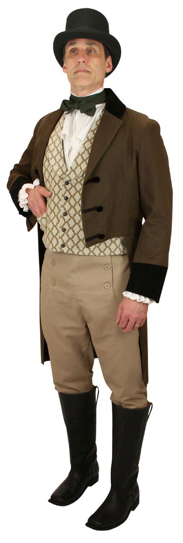 Steampunk Mens Green Cotton Solid Cravat | Gothic | Pirate | LARP | Cosplay | Retro | Vampire || Classic Cotton Cravat - Olive